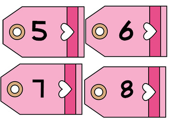 Valentine's Day Number cards/Roll and Cover  & Love Bug Number Match Up
