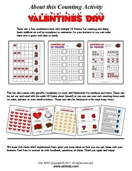 Valentine's Day Numbers Counting Activities