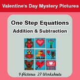 Valentine's Day: One Step Equation - Addition & Subtractio