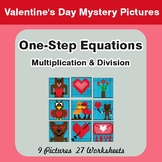 One Step Equations Multiplication & Division - Valentine's