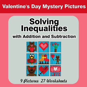 Valentine's Day: One-Step Inequalities with Addition & Subtraction