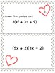 Valentine's Day Operations with Polynomials Algebra 1 Scavenger Hunt