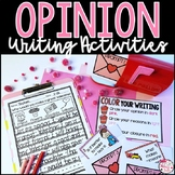 Valentine's Day Opinion Writing Prompts and Activities