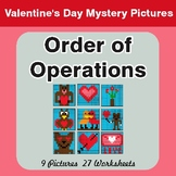 Valentine's Day: Order Of Operations - Color-By-Number Mys