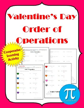 Valentine's Day Order of Operations - Cooperative Learning