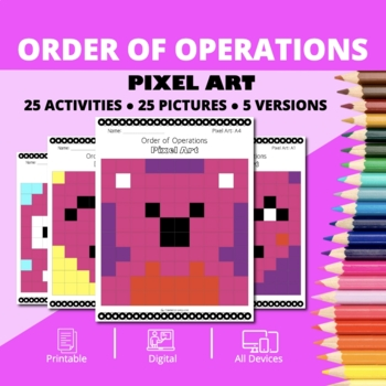 Valentine's Day: Order of Operations Pixel Art Mystery Pictures