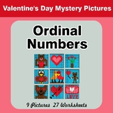 Valentine's Day: Ordinal Numbers - Math Mystery Pictures /