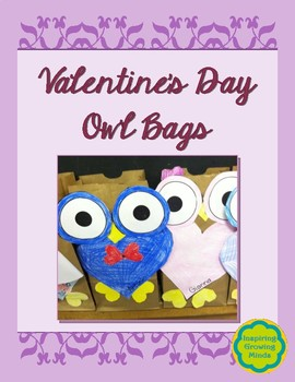 Valentine S Day Owl Bags By Inspiring Growing Minds Tpt