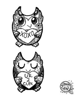 Valentine's Day Owl Cards