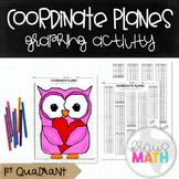 Valentine's Day Owl Coordinate Plane Graphing Activity (1st Quadrant)