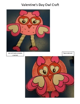 Valentine's Day Owl Craft activity