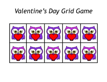Valentine S Day Owl Grid Games By Miss Pre K Teachers Pay Teachers