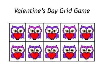 Valentine's Day Owl Grid Games