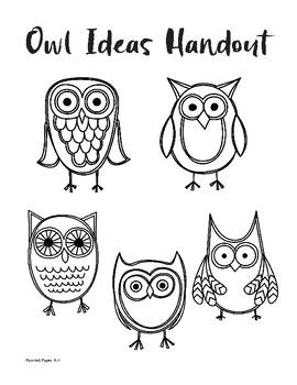 Valentine's Day Owl Handout