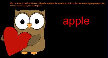 Valentine's Day Owl Reading Smartboard