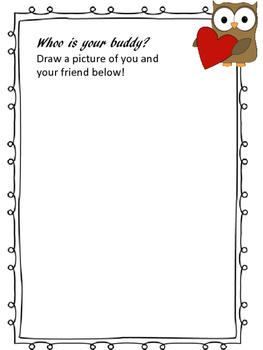 Valentine's Day Owl Themed Drawing Activity