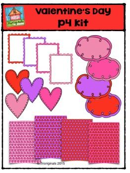 Valentine's Day P4 Kit {P4 Clips Trioriginals Digital Clip Art}