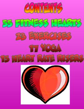 Valentine's Day PE Fitness Hearts