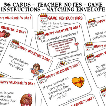 photo about Printable Conversation Cards called ❤ Valentines Working day ❤ 36 PRINTABLE Electronic Communication playing cards ❤