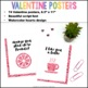 Valentine's Day PUN-ny Cards & Posters {75 Valentine Puns in Watercolor Hearts}