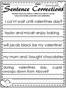 Valentine's Day Activities | Valentine's Day Worksheets | February