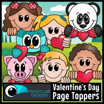 Valentine's Day Page Toppers Clip Art