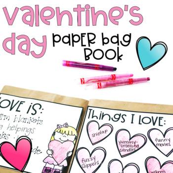 Valentine's Day Paper Bag Book Craft {Customizable}