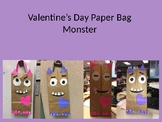 Valentine's Day Paper Bag Monster Craft