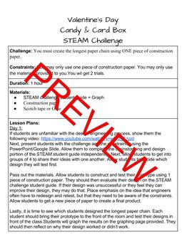 Valentine's Day Paper Chain STEAM Challenge