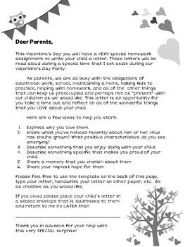 Valentine's Day Parent Homework