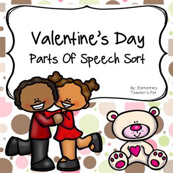 Valentine's Day Parts of Speech Literacy Activity