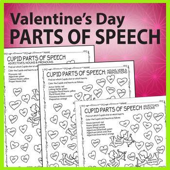 Valentine's Day Parts of Speech Review