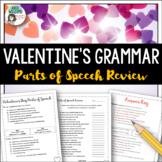 Valentine's Day - Parts of Speech Review / Grammar Activity