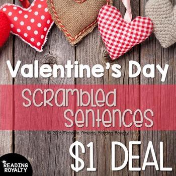 Valentine's Day Parts of Speech: Scrambled Sentences $1 Deal