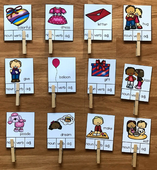 Valentine's Day Parts of Speech Task Cards