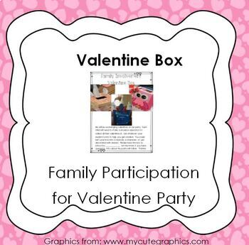 Valentine's Day Party Box - family involvement parent letter