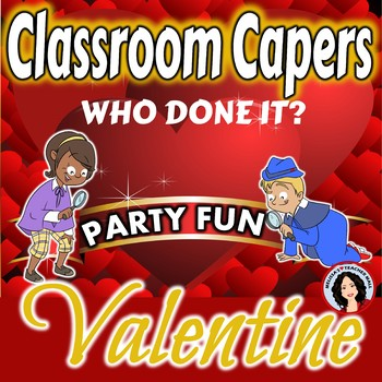 Valentine's Day Party Game, Guess Who Done It Mystery Activity