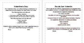 Valentine's Day Party Handout