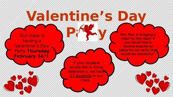 Valentine's Day Party Letter!