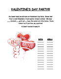Valentine's Day Party Letter (with student list of names)