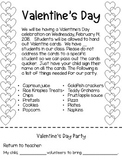 Valentine's Day Party Note / Letter English and Spanish