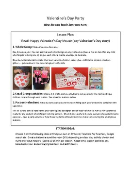 Food Allergies: Valentine's Day Party Plans, no food