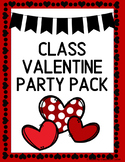 Valentine's Day Party Printable Pack for Classroom