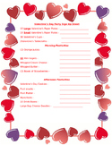 Valentine's Day Party Sign Up Sheet