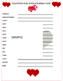 Valentine's Day Party Word Scramble Game- February Fun!  Printable