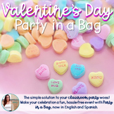 Valentine's Day Party in a Bag (English & Spanish)
