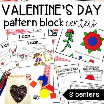 Valentine's Day Pattern Block Math Centers