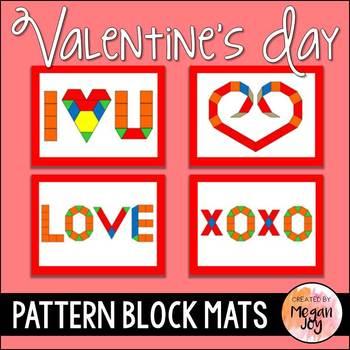 Valentines Day Pattern Blocks