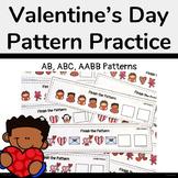 Valentine's Day Pattern Practice (AB, ABC, AABB)