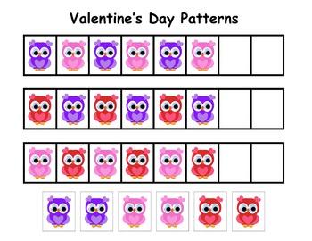 Valentine's Day Pattern Worksheet